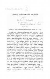 Granice endotorakalne pleurolize / Stanko Dujmušić