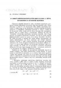 O cirkularnim racionalnim krivuljama 4. reda, izvedenim iz izvjesnih konoida / R. Cesarec
