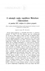 O odnošajih medju republikom Mletačkom i Dubrovačkom : od početka XVI. stoljeća do njihove propasti / S. Ljubić