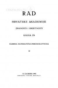 Knj. 85(1942)=knj. 274 [1.]