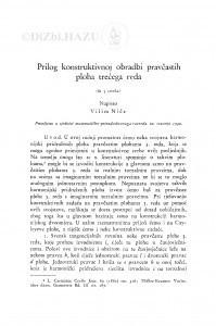 Prilog konstruktivnoj obradbi pravčastih ploha trećega reda / Vilko Niče