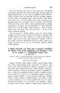 L'Italia descritta nel libro del re Ruggero compilato da Edrisi. Testo arabo pubblicato con versione e note da M. Amari e C. Schiaparelli. Roma 1883 / S. Ljubić