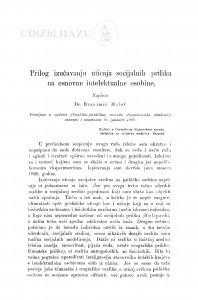 Prilog izučavanju uticaja socijalnih prilika na osnovne intelektualne osobine / B. Maleš