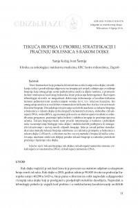 Tekuća biopsija u probiru, stratifikaciji i praćenju bolesnica s rakom dojke / Sanja Kožaj, Ivan Šamija