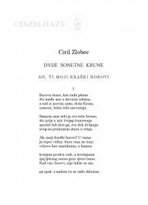 Dvije sonetne krune / Ciril Zlobec ; preveo Tonko Maroević