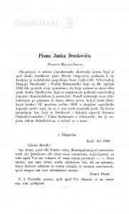 Pisma Janka Draškovića / Milivoj Šrepel