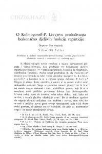 O Kolmogoroff- P. Lévyjevu predočivanju beskonačno djeljivih funkcija reparticije / V. Feller