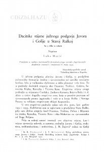 Dacitske stijene južnoga podgorja Javora i Golije u Staroj Raškoj / L. Marić