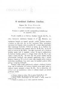 O strukturi fosforne kiseline / I. Fröschl