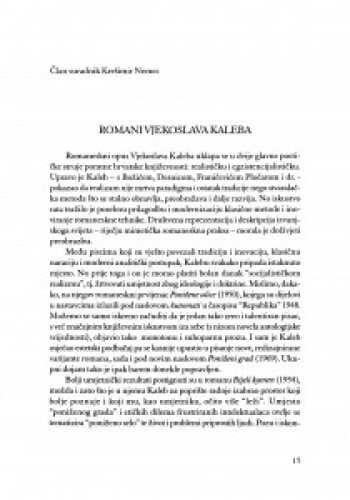 Romani Vjekoslava Kaleba / Krešimir Nemec
