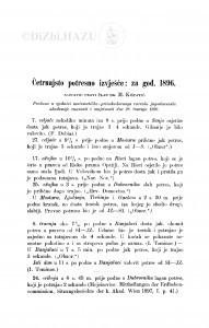 Četrnajsto potresno izvješće: za god. 1896. / M. Kišpatić