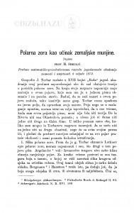 Polarna zora kao učinak zemaljske munjine / M. Sekulić