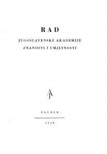 Knj. 1(1948)=knj. 273 [2.] / urednik Vale Vouk