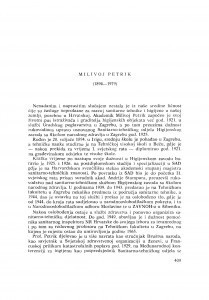 Milivoj Petrik (1894-1979) : [nekrolozi] / H. Iveković