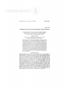 Gangliosides and neutral glycosphingolipids of human pancreas / O. Đaković, Z. Jandrić, M. Mesarić, Lj. Toman