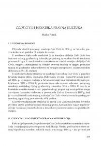 Code civil i hrvatska pravna kultura / Marko Petrak
