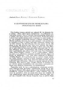 O histokemijskim promjenama indurirane kože / F. Kogoj i Z. Zambal