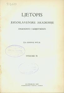 Za godinu 1937/38. Sv. 51