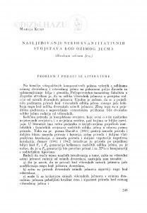 Nasljeđivanje nekih kvantitativnih svojstava kod ozimog ječma (Hordeum sativum Jess.) / M. Kump