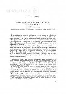 Prilog poznavanju reljefa Jadranskog priobalskog dna / J. Roglić