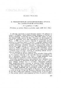 O proizvodnim sposobnostima ovaca na Jadranskim otocima / A. Ogrizek
