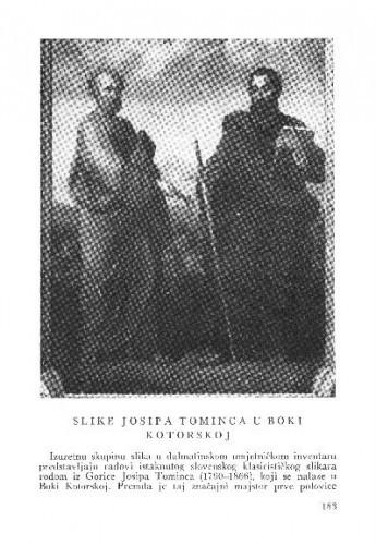 Slike Josipa Tominca u Boki Kotorskoj / Kruno Prijatelj