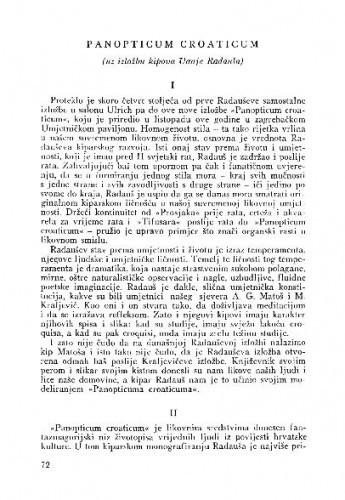 Panopticum croaticum : uz izložbu  kipova Vanje Radauša / M. Peić