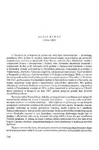 Alojz Benac (1914-1992) / Duje Rendić-Miočević