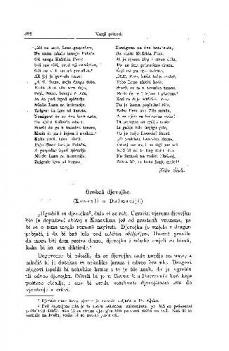 Grabež djevojke : (Konavli u Dalmaciji.) / P. Bogdan-Bijelić