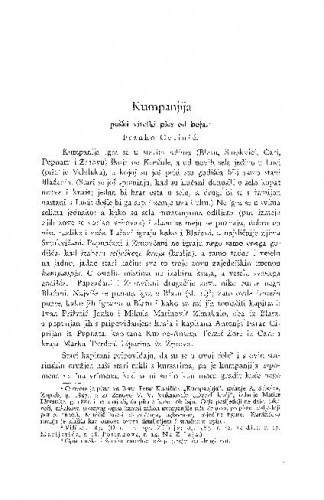 Kumpanija : pučki viteški ples od boja / F. Cetinić