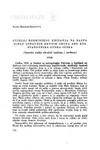 Utjecaj rodbinskog križanja na raspodjelu osnovnih krvnih grupa AB0 kod stanovnika otoka Suska / Z. Dolinar-Osoletova