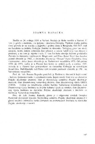 Joanna Rapacka