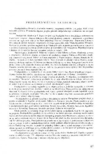 Izvještaj o radu Hrvatske akademije znanosti i umjetnosti u godini 1996.