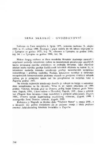 Sena Sekulić-Gvozdanović
