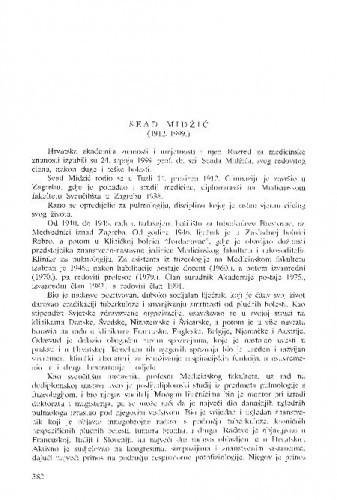 Sead Midžić (1912.-1999.) / Fadila Pavičić