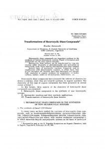 Transformations of heterocyclic diazo compounds / B. Stanovnik