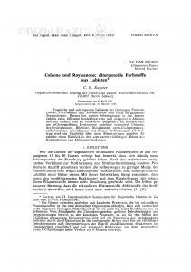 Coleone und Royleanone; diterpenoide Farbstoffe aus Labiaten / C. H. Eugster