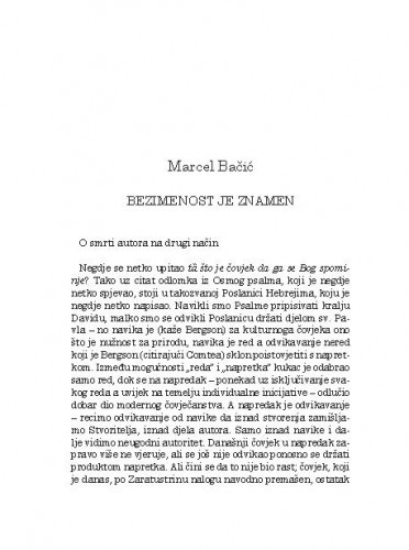 Bezimenost je znamen / Marcel Bačić