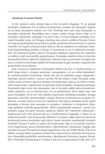 Rasprava : 1. dan / Zvonimir Baletić, Zvonko Posavec, Ivan Koprić, Gordana Marčetić, Vedran Đulabić, Anamarija Musa