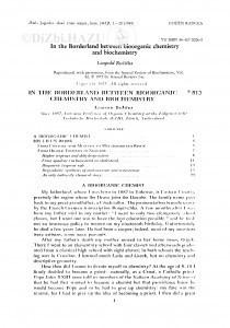In the borderland between bioorganic chemistry and biochemistry / L. Ružička