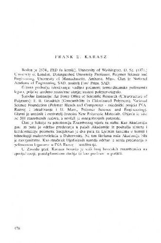 Frank E. Karasz