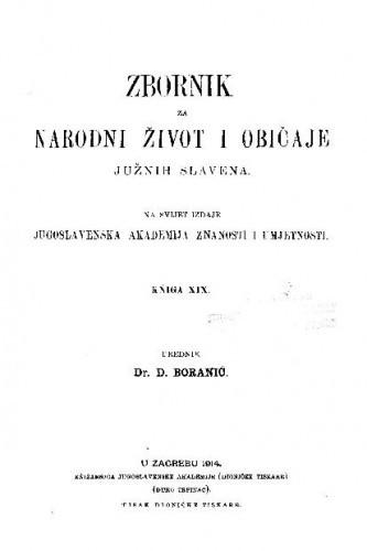 Knj. 19. (1914) / urednik D. Boranić