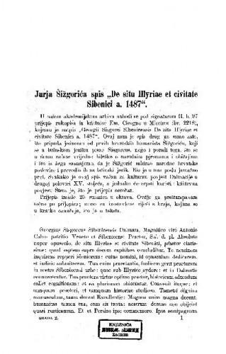 Jurja Šižgorića spis