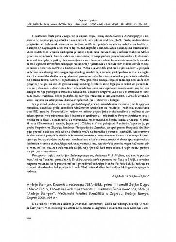 Andrija Štampar, Dnevnik s putovanja 1931.-1938., priredili i uredili Željko Dugac i Marko Pećina, Hrvatska akademija znanosti i umjetnosti, Škola narodnog zdravlja