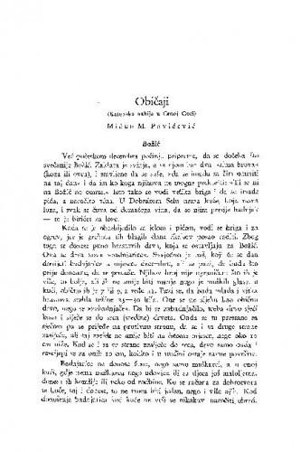 Običaji : (Katunska nahija u Crnoj Gori.) / M. M. Pavićević