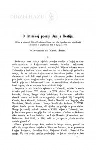 O latinskoj poeziji Junija Restija / M. Šrepel