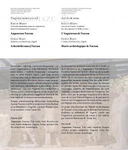 Augusteum Narona = L'Augusteum de Narona / Emilio Marin