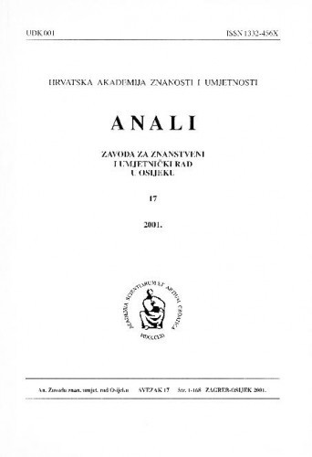 Sv. 17 (2001) / urednici Dragan Dekaris, Julijo Martinčić