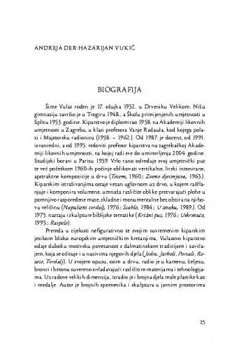 Biografija : [Šime Vulas] / Andreja Der Hazarijan Vukić