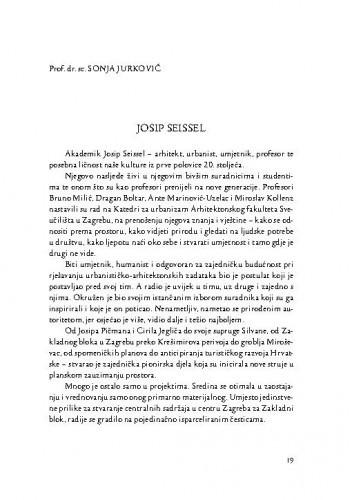 Josip Seissel : [komemorativni esej] / Sonja Jurković